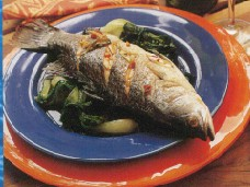 click for a recipe for Whole Farmed Baby Barramundi with Soy & Ginger Sauce