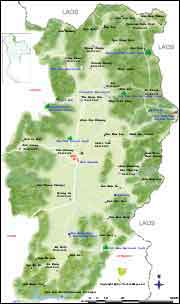 Northern Thailand maps, map of Nan province