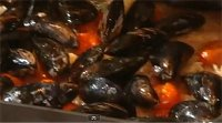 Roasted Tomatoes and Mussels