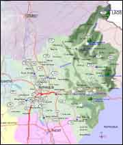 Northern Thailand maps, map of Phitsanulok